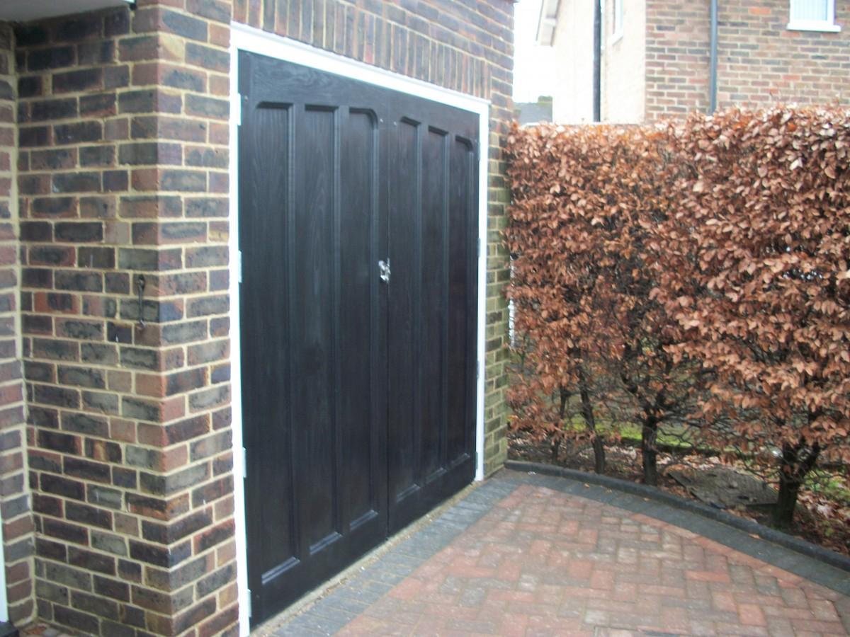 Grp Woodeffect Side Hinged Door Fitted In Farnham Surrey