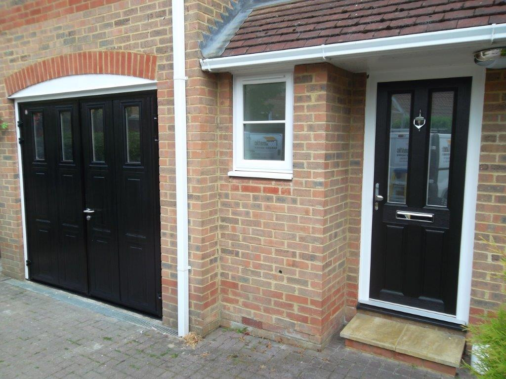 Carteck side hinged insulated camberley doormatic garage for Garage doors uk