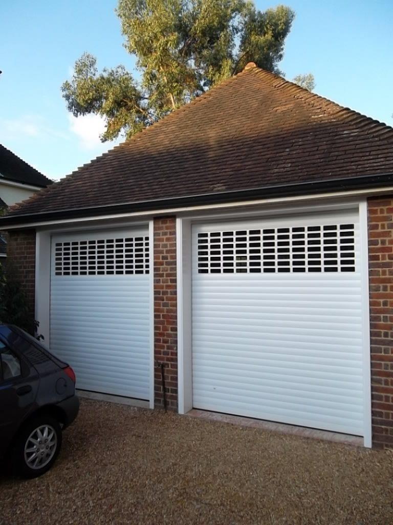 Seceuroglide Roller Doors with windows fitted in Guildford Surrey - Doormatic Garage Doors & Seceuroglide Roller Doors with windows fitted in Guildford Surrey ...