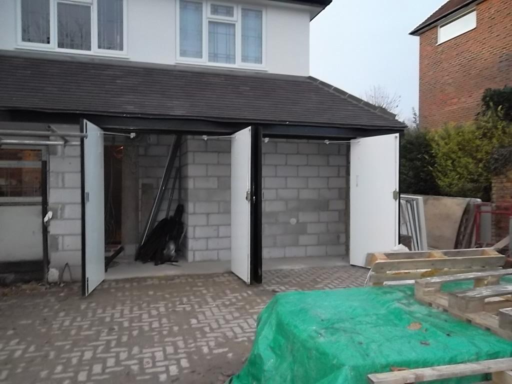 2 Side Hinged Wessex Grp Garage Doors Fitted In Woking