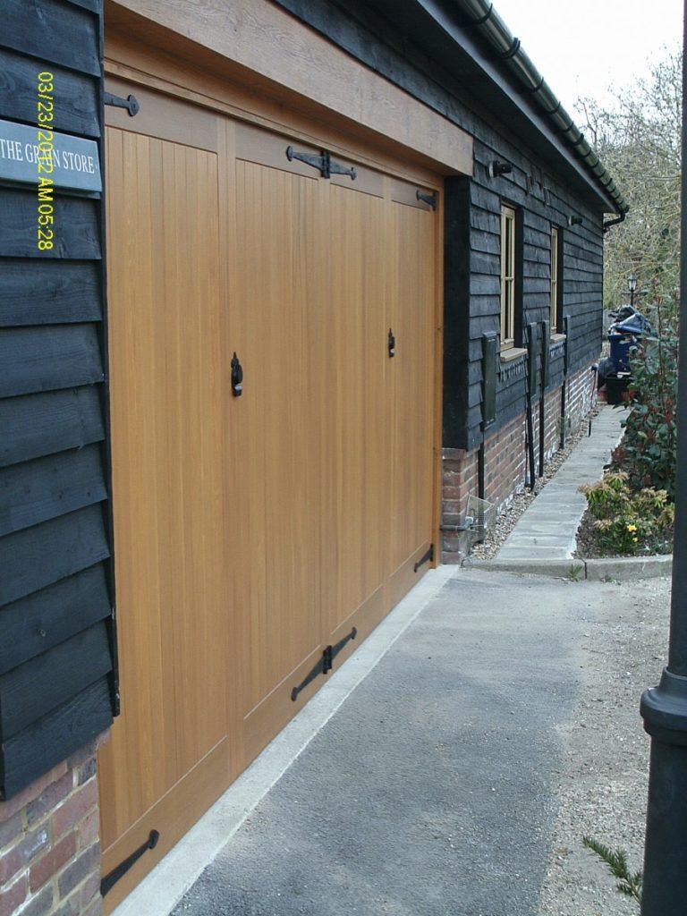 Cedar Timber Garage Door Fitted In Guildford Surrey