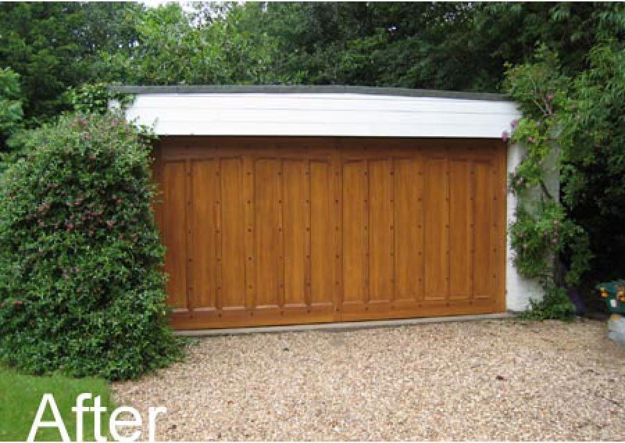 White grp up and over garage door fitted in ashtead for 11 x 7 garage door