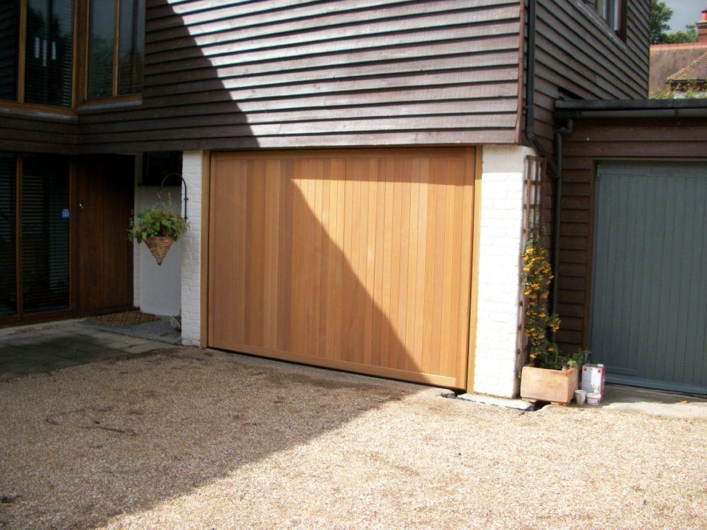 Cedar Vertical Door Fitted Cranleigh Surrey Doormatic