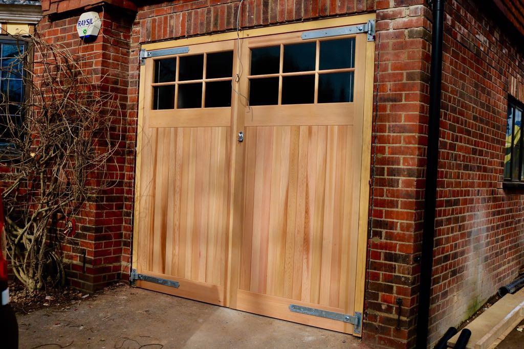 Woodrite Side Hinged Timber Doors Fitted In Woking Surrey