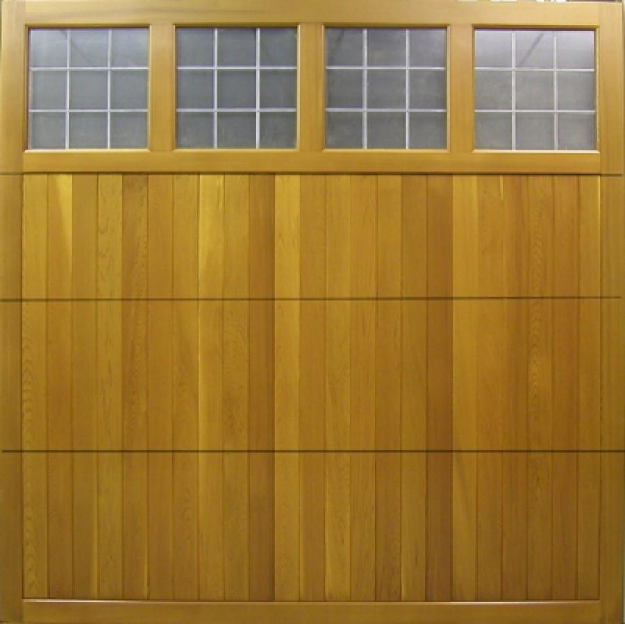 Seceuroglide insulated sectional garage door georgian cassette - Derwent