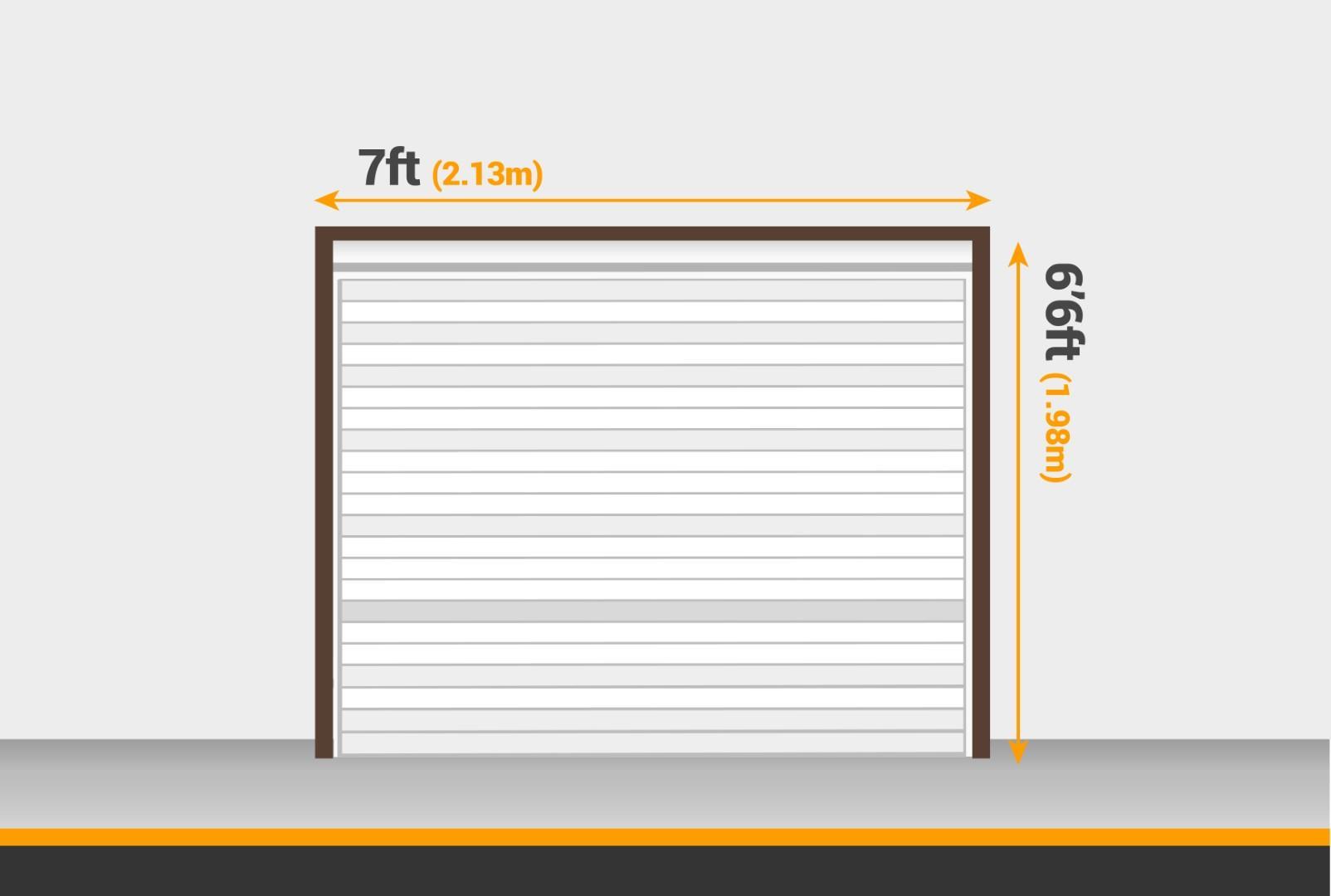 Standard single garage door size 7 x 6'6