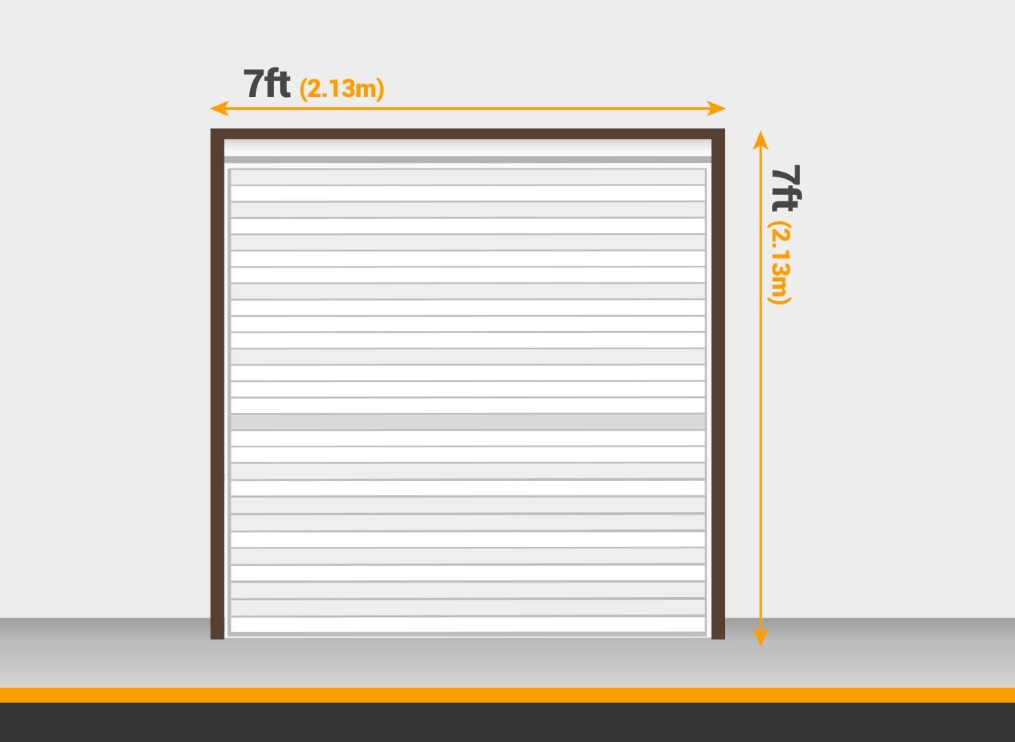 Standard single garage door size 7 x 7