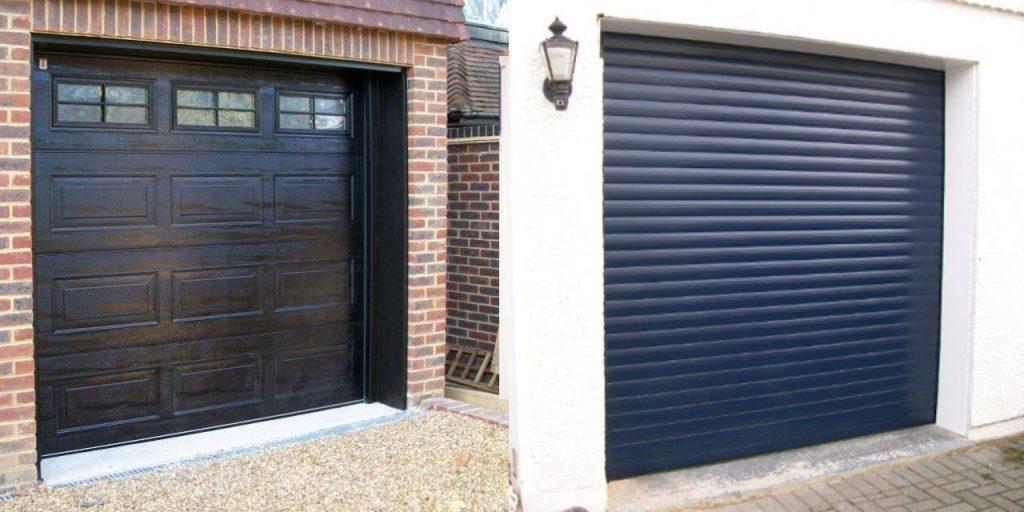 roller garage doors vs sectional garage doors