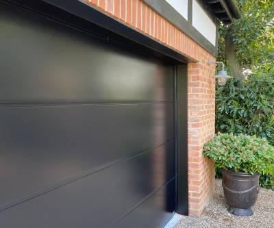 Double Carteck Sectional Garage Door fitted in Weybridge, Surrey