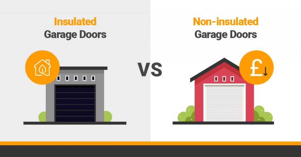 Insulated vs non-insulated garage doors