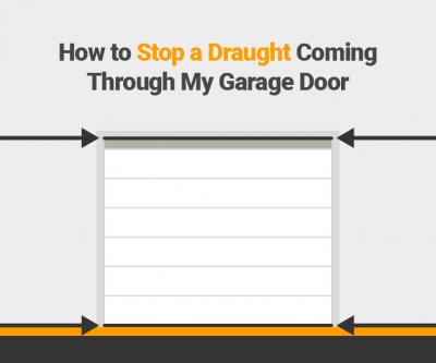 How to stop daught from my garage door