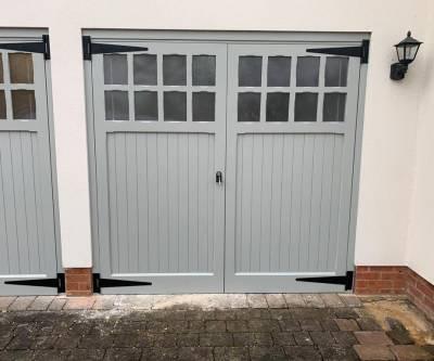 Uploaded ToGrey Side-hinged Garage Door