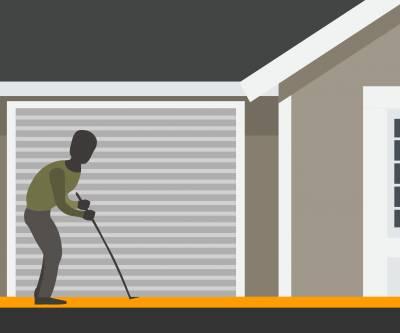 How to secure a garage door